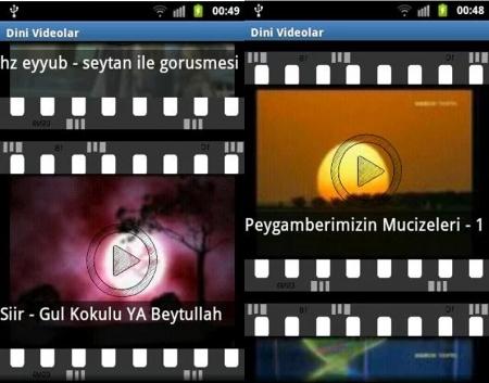 Dini Mobil Uygulama Dini Film, ilahi ve Bilgiler Program indir