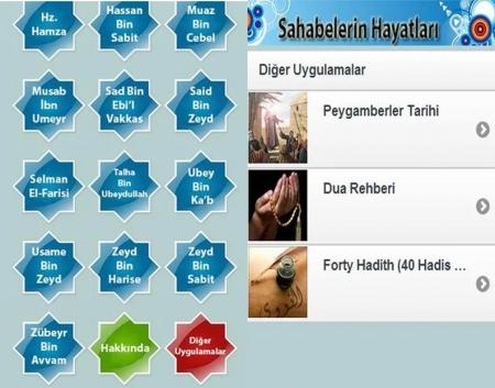 Dini Mobil Uygulama Sahabelerin Hayatları Program indir