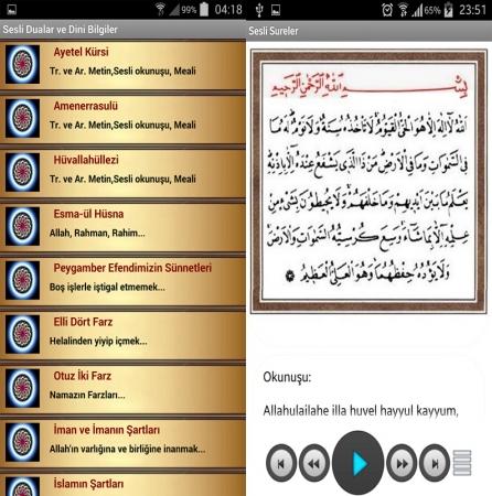 """Dini Mobil Uygulama """"Sesli Dualar ve Dini Bilgiler"""" Mobil Uygulamasını indir"""