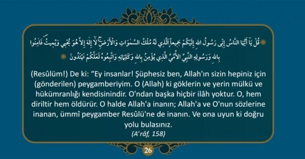 Kur'an-ı Kerim'de Hz. Muhammed (S.A.V)'i Anlatan 40 Ayet