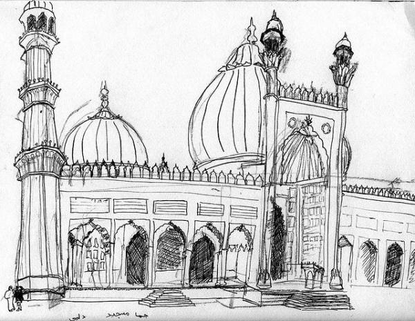 Karakalem Cami Medreese Resimleri