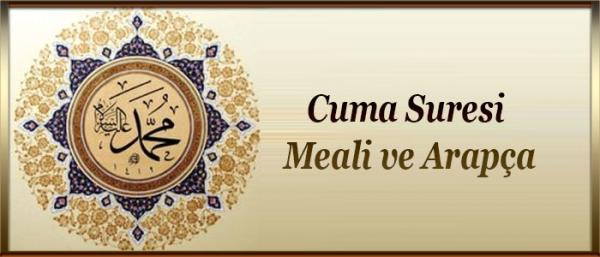 Cuma Suresi Meali ve Arapça