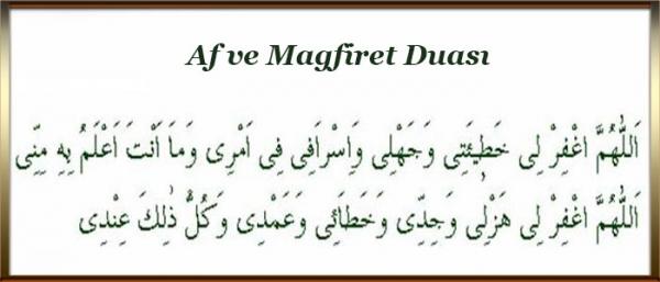 Af ve Magfiret duası