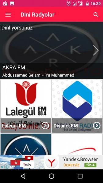 Dini Radyo Mobil Uygulaması