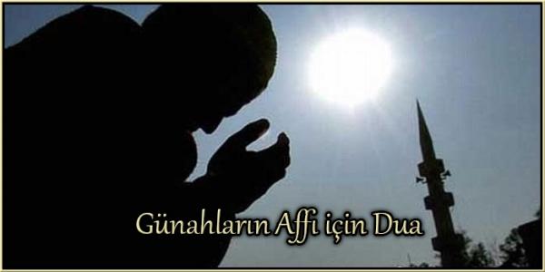 Günahların Affı için Dua