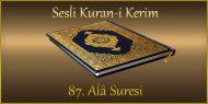 87. Alâ Suresi, Fatih ÇOLLAK (sesli dinle takip ederek oku)