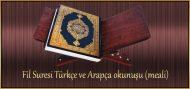 Fil Suresi Türkçe ve Arapça okunuşu (meali)