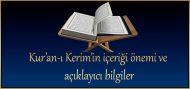 Kur'an-ı Kerim'in içeriği önemi ve açıklayıcı bilgiler