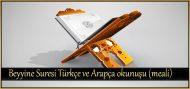 Beyyine Suresi Türkçe ve Arapça okunuşu (meali)