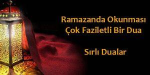 Ramazanda okunması çok faziletli bir dua – Sırlı Dualar