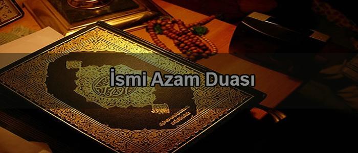 İsmi Azam Duası