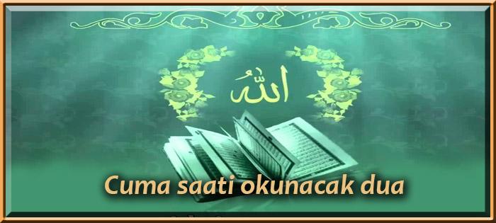 Cuma saati okunacak dua