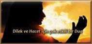 Dilek ve Hacet için çok etkili bir Dua