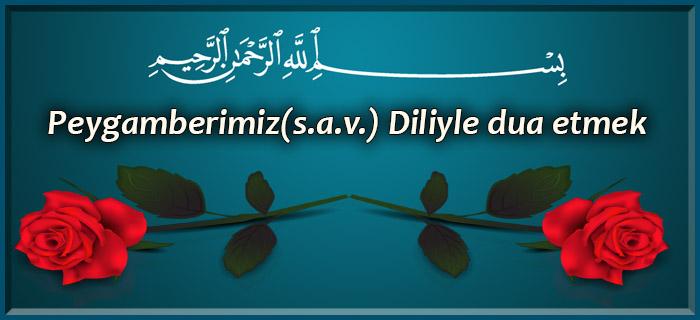 Peygamberimiz(s.a.v.) Diliyle dua etmek