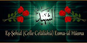 Eş-Şehid (Celle Celâlühü) Esma-ül Hüsna