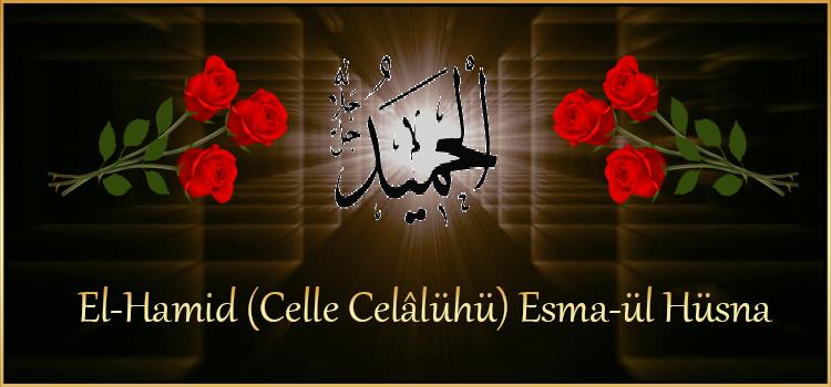 El-Hamid (Celle Celâlühü) Esma-ül Hüsna