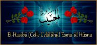 El-Hasibü (Celle Celâlühü) Esma-ül Hüsna