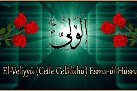 El-Veliyyü (Celle Celâlühü) Esma-ül Hüsna