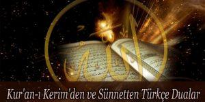 Kur'an-ı Kerim'den ve Sünnetten Türkçe Dualar