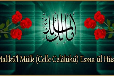 Malikü'l Mülk (Celle Celâlühü) Esma-ül Hüsna