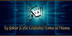 Eş-Şekûr (Celle Celâlühü) Esma-ül Hüsna