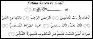 Fatiha Suresi ve meali
