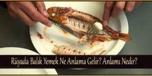 Rüyada Balık Yemek Ne Anlama Gelir
