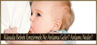 Rüyada Bebek Emzirmek Ne Anlama Gelir?  Anlamı Nedir?
