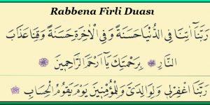 Rabbena Firli Duası ve Meali