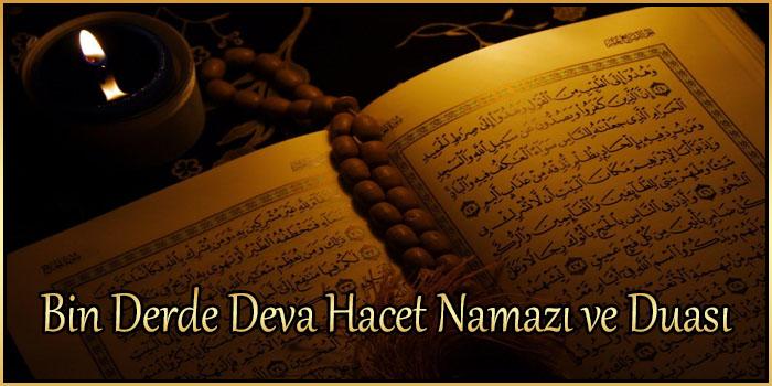 Bin Derde Deva Hacet Namazı ve Duası