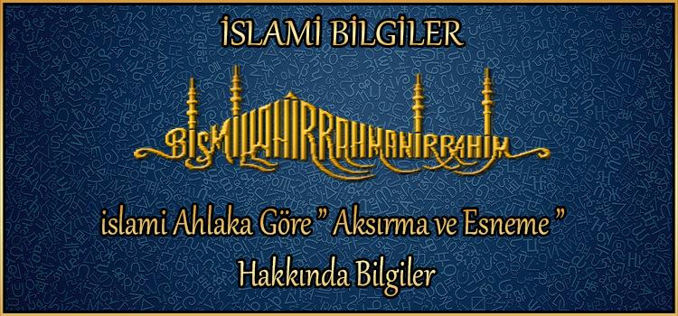 """islami Ahlaka Göre """" Aksırma ve Esneme """" Hakkında Bilgiler"""