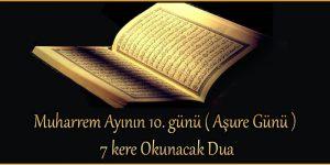 Aşure gününde okumanız gereken dualar