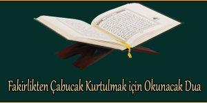 Fakirlikten Çabucak Kurtulmak için Okunacak Dua