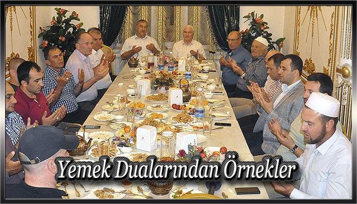 Yemek Dualarından Örnekler