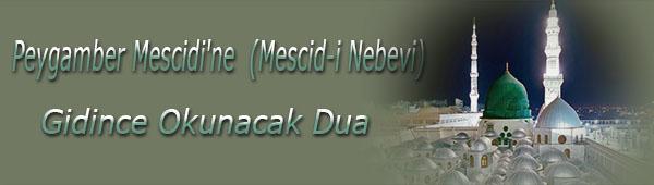 Peygamber Mescidi'ne (Mescid-i Nebevi) Gidince Okunacak Dua