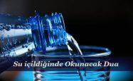 Su içildiğinde Okunacak Dua