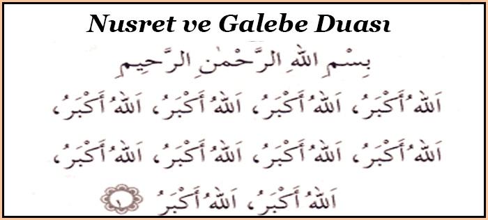 Nusret ve Galebe Duası