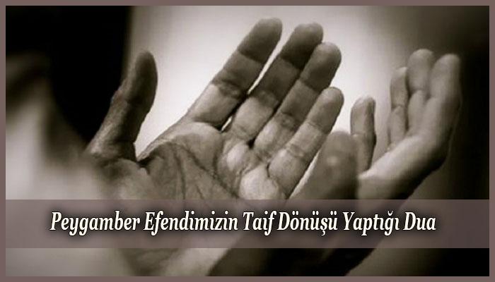 Peygamber Efendimizin Taif Dönüşü Yaptığı Dua