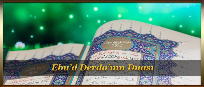 Ebu'd Derda'nın Duası