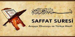 Saffat Suresi Arapça Yazılışı