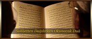 Sohbetten Dağılırken Okunacak Dua