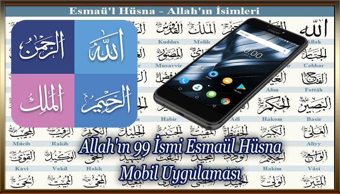 Allah'ın 99 İsmi Esmaül Hüsna Mobil Uygulaması