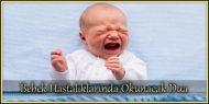 Bebek Hastalıklarında Okunacak Dua