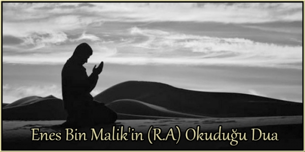 Enes Bin Malik'in (R.A) Okuduğu Dua