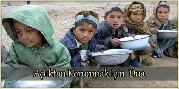 Açlıktan Korunmak için Dua