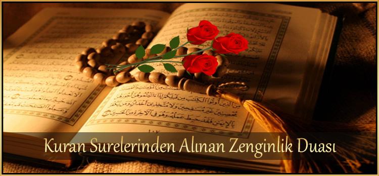Kuran Surelerinden Alınan Zenginlik Duası