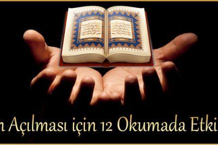 işlerin Açılması için 12 Okumada Etkili Dua