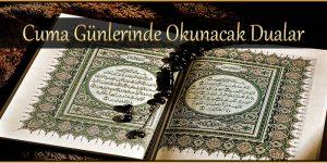 Cuma Günlerinde Okunacak Dualar