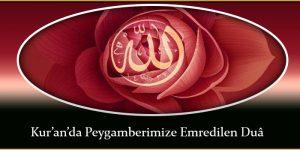 Kur'an'da Peygamberimize Emredilen Duâ