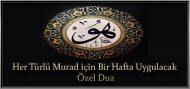 Her Türlü Murad için Bir Hafta Uygulanacak Özel Dua